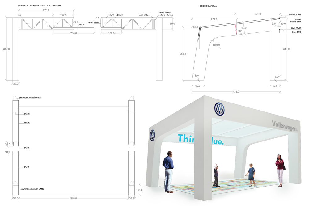 Carpa volkswagen itinerante metric3 for Carpa europea